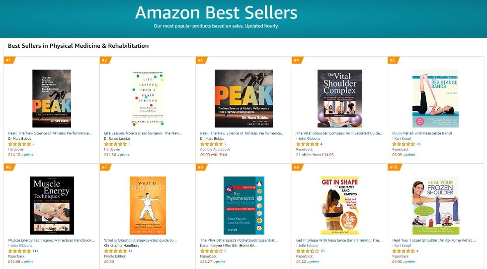 What is Qigong book by Qigong Author Christopher David Handbury reaches number 7 in the Amazon Top 100 for physical medicine and rehabilitation